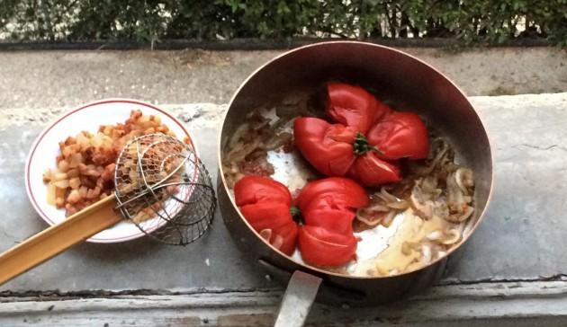 amatriciana con pomodoro fresco