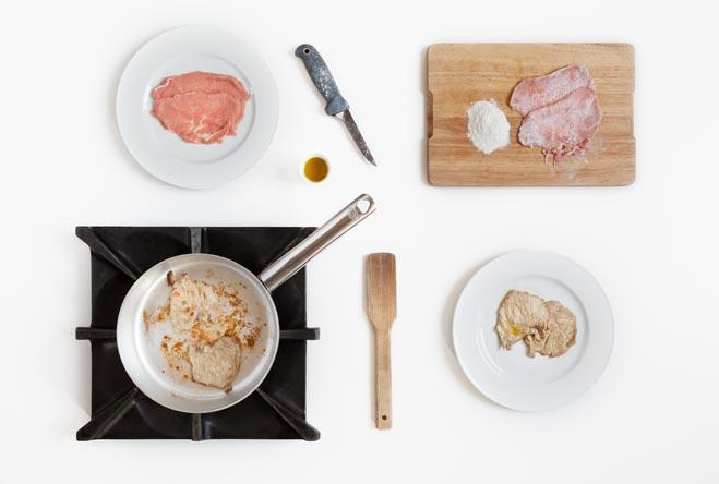 scaloppine al limone: rosola la carne