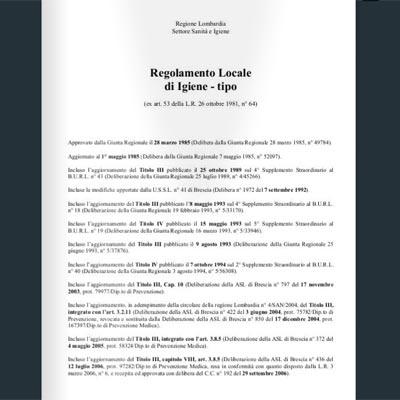regolamento di igiene regione lombardia