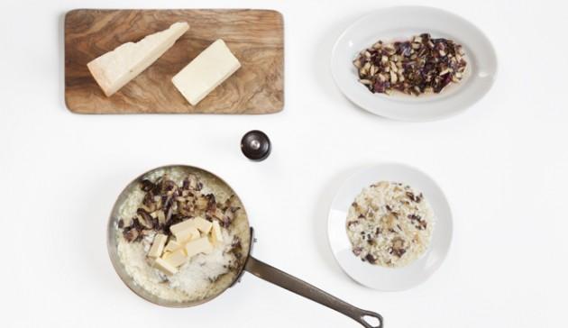 mantecare-il-risotto-radicchio-separazione cotture