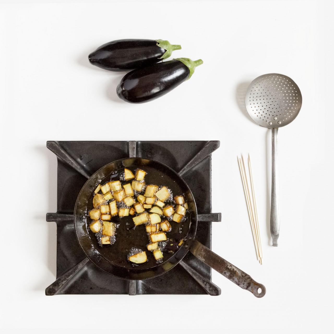 pasta-alla-norma-2 in padella di ferro