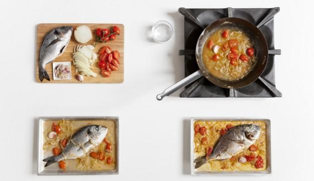orata al forno con pomodorini