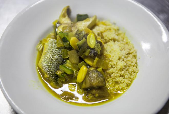 cuscus di pesce e verdura