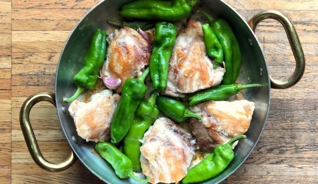 sovraccosce di pollo con peperoni friggitielli